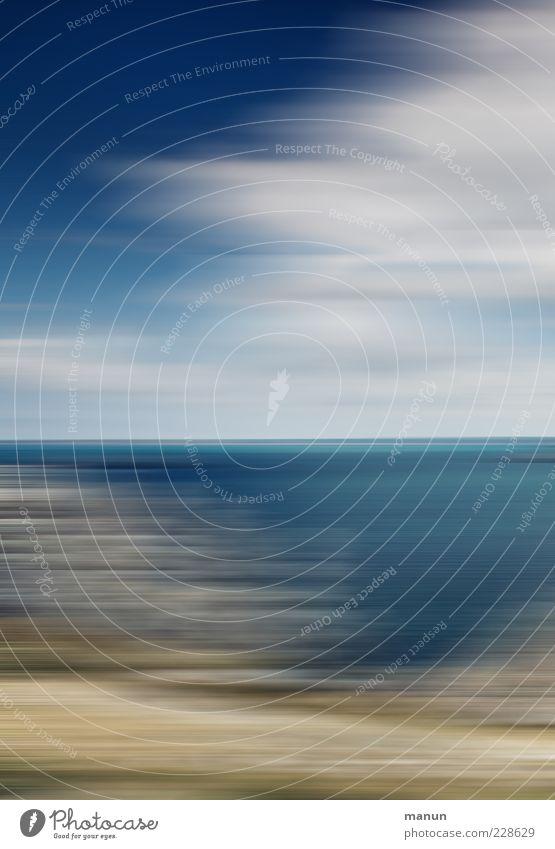 Tag am Meer Himmel Natur Wolken Landschaft Küste Geschwindigkeit außergewöhnlich Urelemente