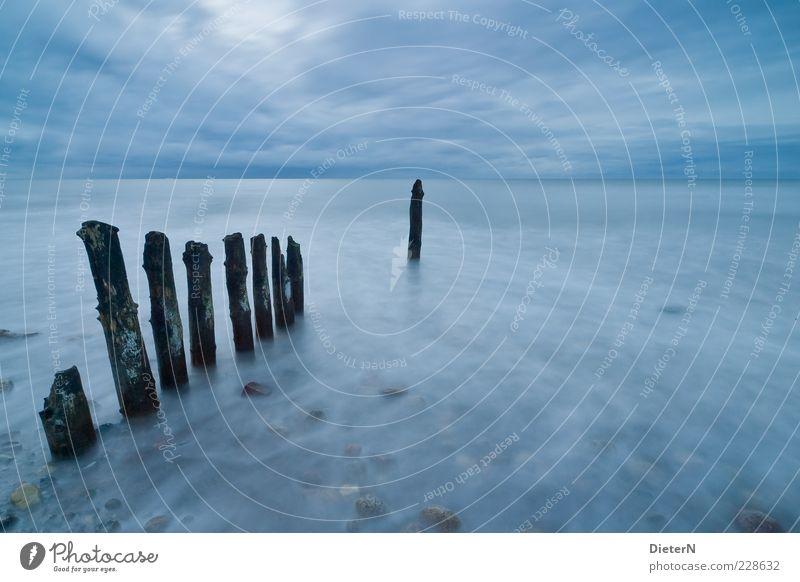 Blau harmonisch Ferien & Urlaub & Reisen Tourismus Ausflug Ferne Freiheit Sommer Meer Wellen Landschaft Sand Wasser Himmel Wolken Horizont Ostsee