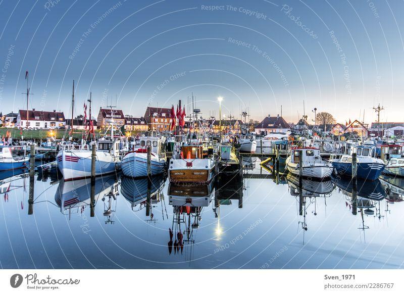 Fischereihafen Gilleleje Ferien & Urlaub & Reisen Fischereiwirtschaft Wasser Wolkenloser Himmel Sonnenaufgang Sonnenuntergang Ostsee Dänemark Europa Fischerdorf