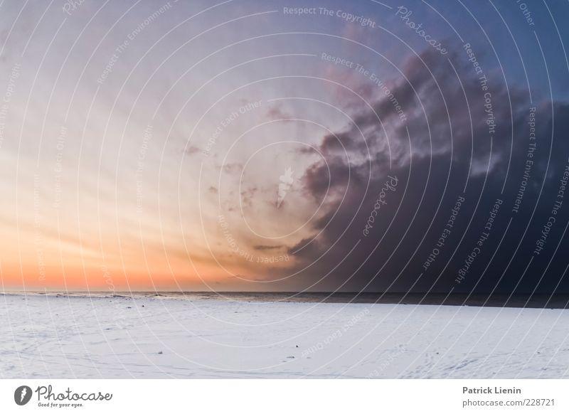 Frozen in Time Himmel Natur blau weiß schön rot Meer Strand Winter Wolken Farbe Schnee Umwelt Landschaft Küste Luft