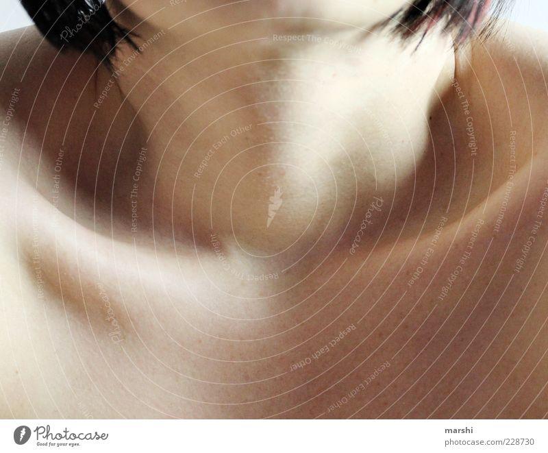 Schlüsselbein Frau Mensch Erwachsene feminin Haut dünn Schlüsselbein Frauenhals