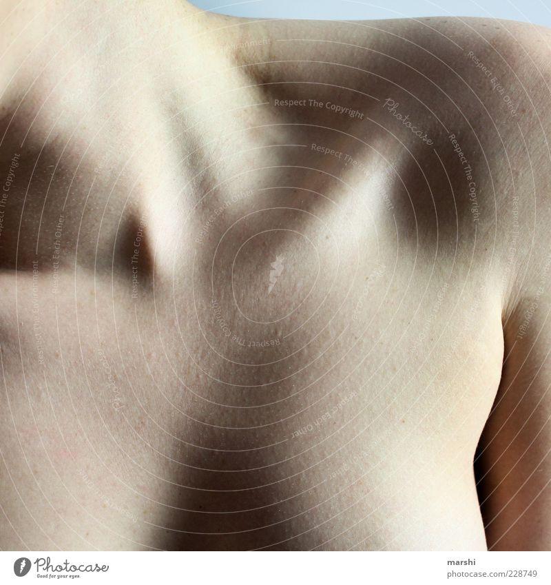 400 || Höhen und Tiefen Mensch feminin Junge Frau Jugendliche Erwachsene Körper Haut Brust 1 nackt Schatten Licht Hals Dekolleté Schulter Körperteile Farbfoto