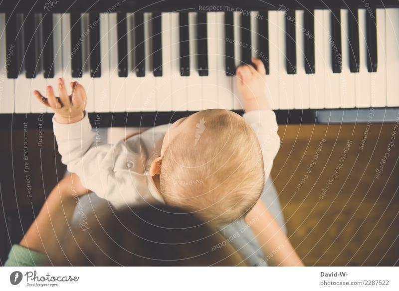 Fingerübung Kind Mensch Freude Leben feminin Stil Kunst Spielen außergewöhnlich Zufriedenheit Freizeit & Hobby maskulin elegant Musik Kindheit Baby