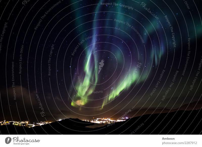 Himmel Natur Ferien & Urlaub & Reisen Stadt Farbe schön grün Landschaft Wolken Winter Berge u. Gebirge dunkel Schnee hell Wetter Luft