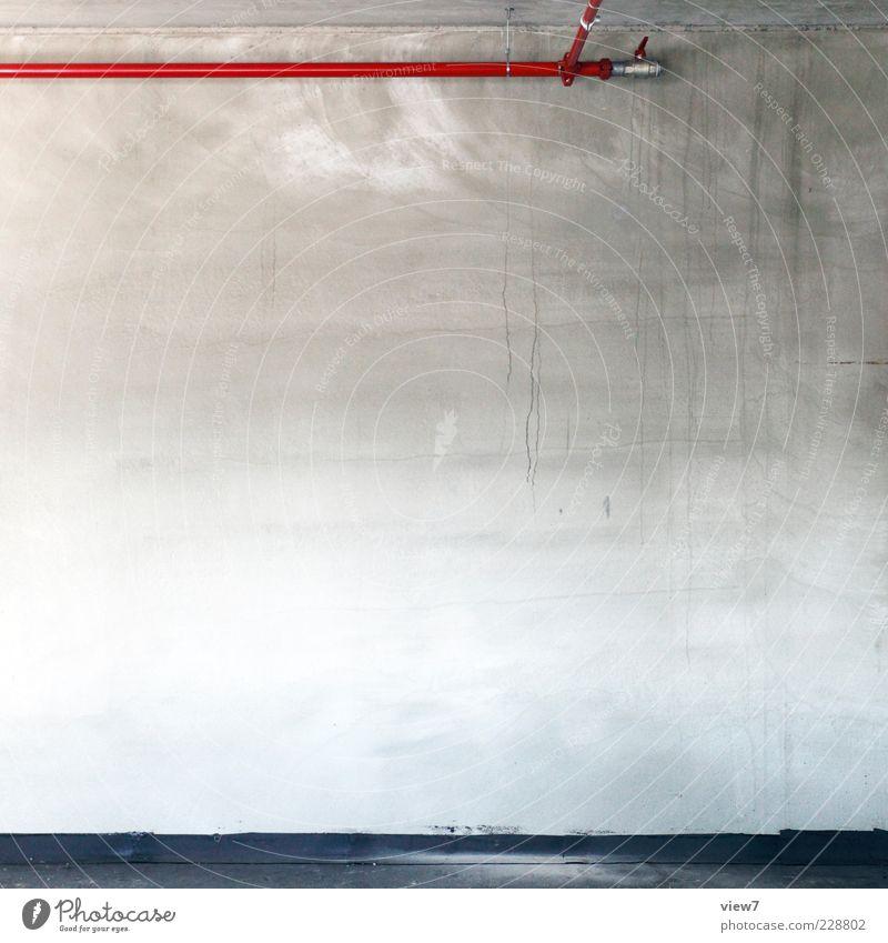 RaOHr roth. Mauer Wand Fassade Stein Beton Metall Zeichen Linie Streifen authentisch elegant frisch modern natürlich oben positiv Fortschritt Ordnung Präzision