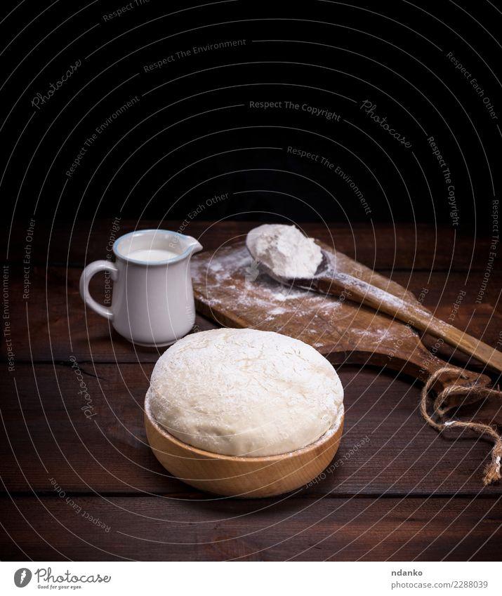weiß Essen natürlich Holz Lebensmittel braun oben frisch Tisch Küche Brot Schalen & Schüsseln Essen zubereiten Backwaren Mahlzeit Teigwaren