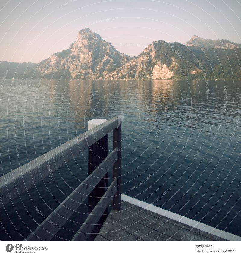 silence Himmel Natur Wasser schön ruhig Wald Umwelt Landschaft Berge u. Gebirge See Felsen natürlich ästhetisch Urelemente Hügel Gipfel