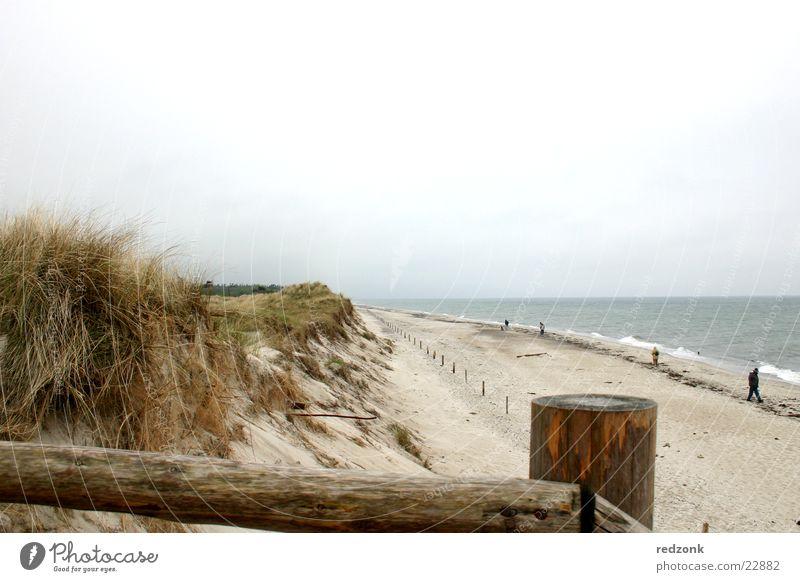 Am Meer Wasser Meer Strand Ferien & Urlaub & Reisen Erholung Sand Wellen Europa Stranddüne Ostsee Geländer Prerow