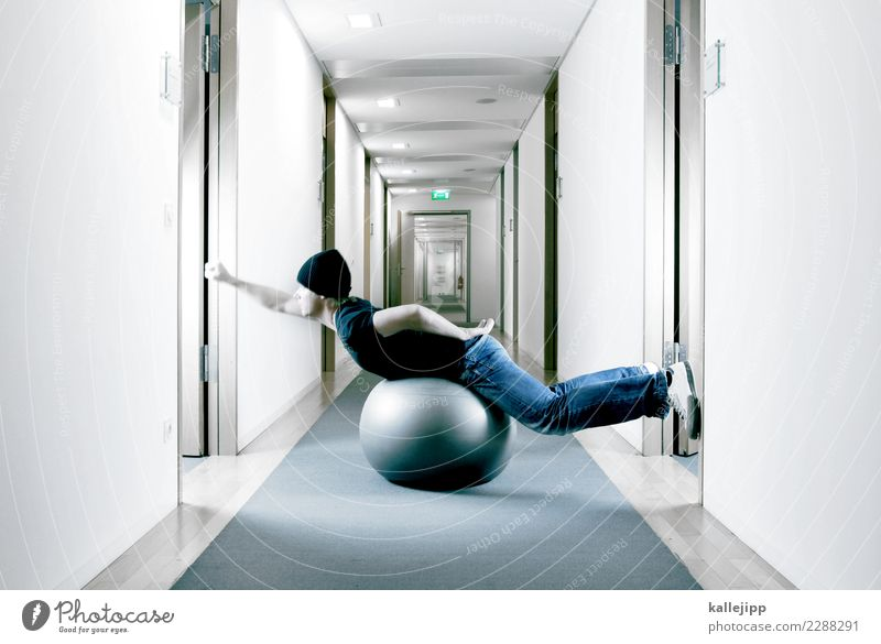 bürohengst 02 Mensch Erwachsene sprechen Business Arbeit & Erwerbstätigkeit maskulin modern Tür Rücken Erfolg planen Team Beruf Ball Sitzung Stress