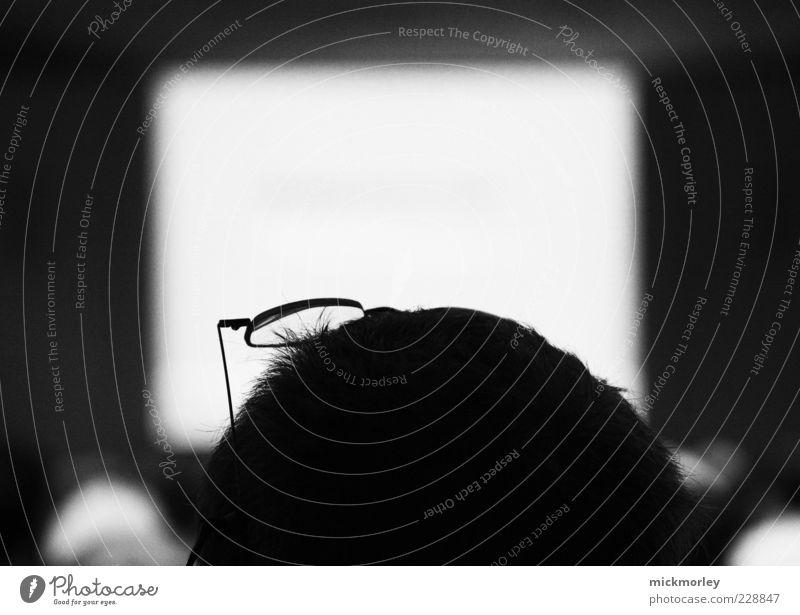 Vortrag des Studenten mit Brille Mensch Kopf Haare & Frisuren Denken lernen Studium authentisch Brille Bildung Karriere klug seriös fleißig Verantwortung diszipliniert Hörsaal