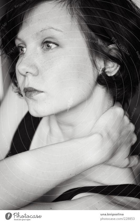 please let me think... Frau Mensch Jugendliche schön ruhig Gesicht feminin Gefühle Erwachsene Haare & Frisuren Traurigkeit Denken träumen Sehnsucht berühren 18-30 Jahre