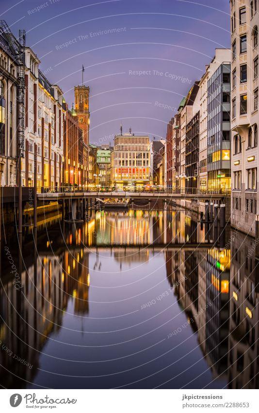 Hamburg Innenstadt Bleichensteg Himmel Ferien & Urlaub & Reisen Stadt Farbe schön Wasser Wolken Wärme Architektur Deutschland modern Europa kaufen Brücke