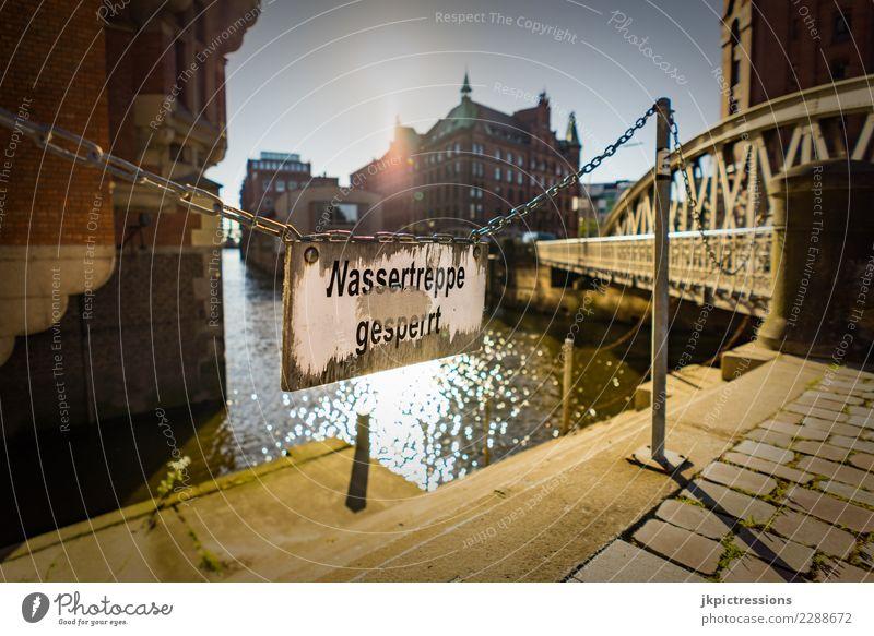 Hamburg Speicherstadt Neuerwegsbrücke Architektur Wolkenloser Himmel Sonne Sonnenlicht Sommer Schönes Wetter Alte Speicherstadt Deutschland Hafenstadt