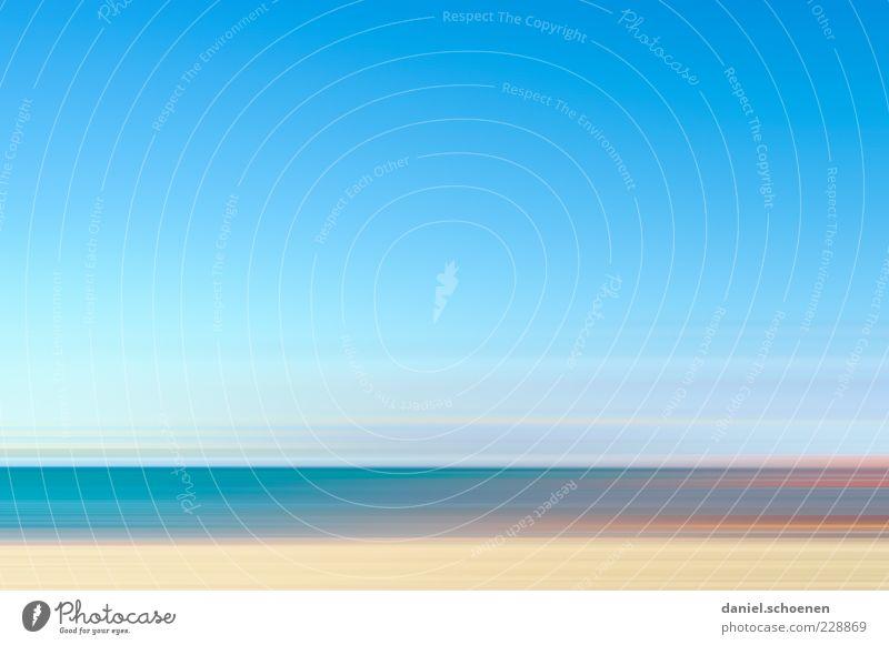 Costa de la Luz Sommer Strand Meer Insel Wellen Himmel Küste blau abstrakt Textfreiraum links Textfreiraum rechts Textfreiraum oben Textfreiraum Mitte