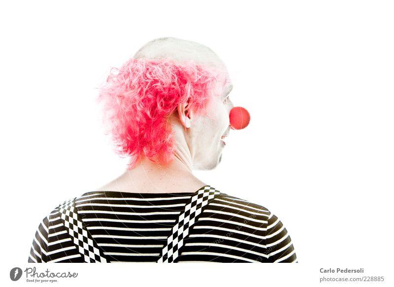 Bingo2 Entertainment Karneval Mensch maskulin Nase Schauspieler Zirkus Hosenträger Haare & Frisuren rothaarig Glatze Lächeln Blick außergewöhnlich lustig