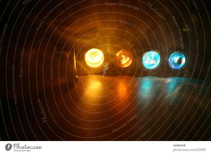 Licht & Rauch 3 blau Lampe Party Stil orange Nebel Disco Freizeit & Hobby Rauch Bühnenbeleuchtung Scheinwerfer