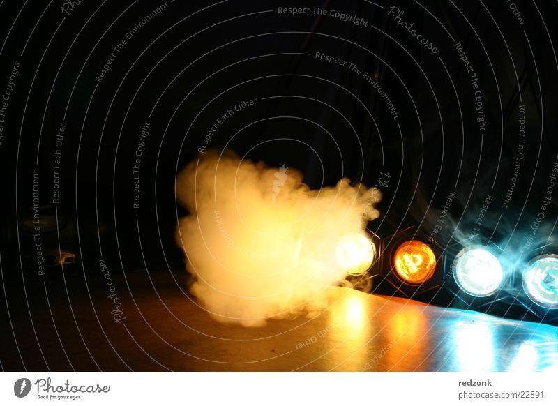 Licht & Rauch 2 blau Lampe Party Stil orange Nebel Disco Freizeit & Hobby Rauch Bühnenbeleuchtung Scheinwerfer