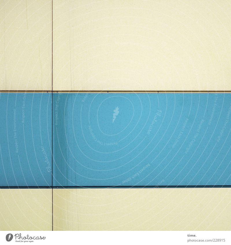 HH10.2   Flag Fake Dekoration & Verzierung Fassade Streifen blau Ordnungsliebe elegant Farbe gleich Kontakt Wand parallel horizontal vertikal chamois Pastellton