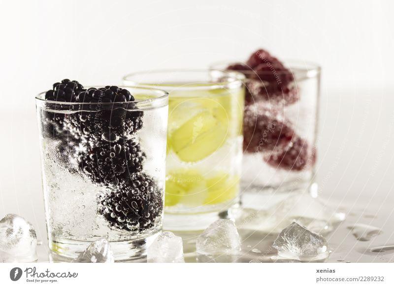 Durstlöscher Gesunde Ernährung grün rot schwarz kalt Gesundheit Frucht frisch Glas süß Trinkwasser Getränk lecker Bioprodukte Diät Vegetarische Ernährung