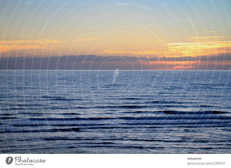 atlantic evening Himmel Natur Wasser blau schön Ferien & Urlaub & Reisen Sommer Meer Wolken ruhig Ferne kalt Freiheit Bewegung Küste Linie