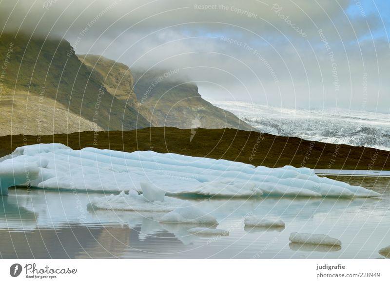Island Natur Wasser Himmel Wolken kalt Berge u. Gebirge See Landschaft Eis Umwelt Felsen Frost Klima wild Urelemente
