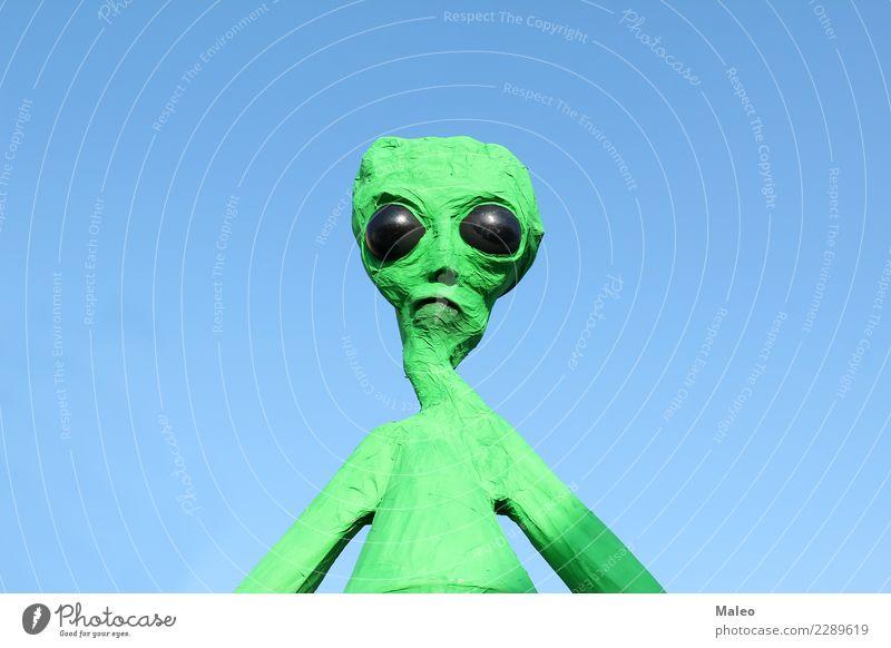 Alien Außerirdischer UFO Charakter Futurismus paranormal Monster Mensch Lebewesen gruselig Auge xfiles Fantasygeschichte Besucher grün Zukunft Wissenschaften