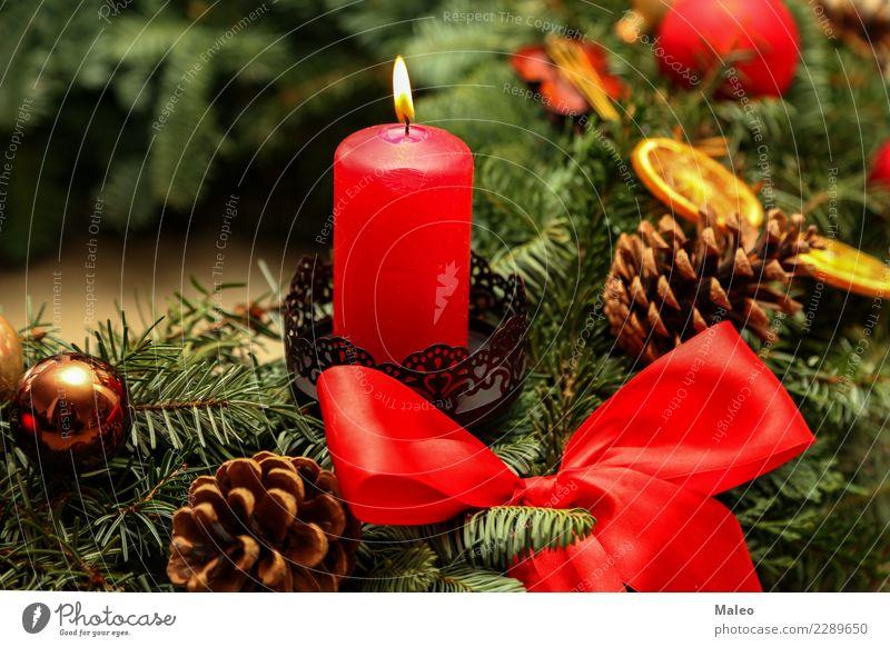 Advent Weihnachten & Advent grün rot Winter Hintergrundbild Zeit Glück Feste & Feiern Dekoration & Verzierung Fröhlichkeit Kerze neu Spielzeug Flamme festlich