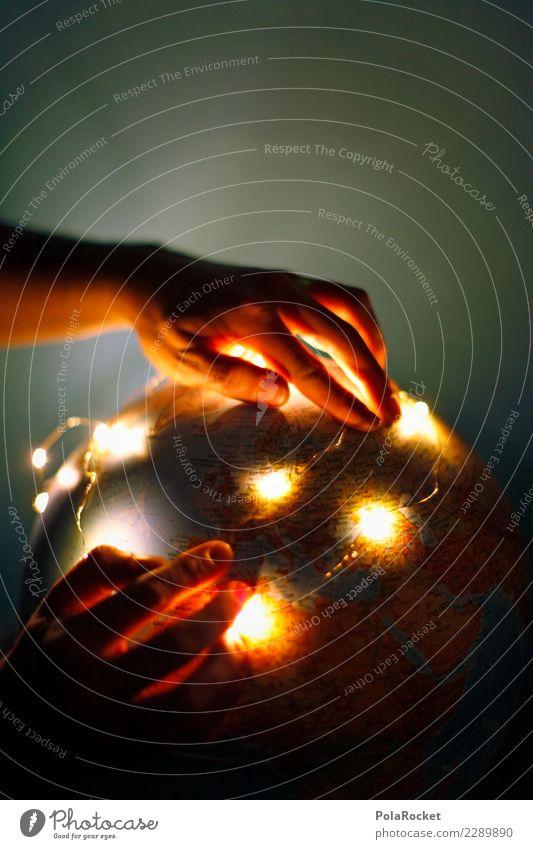 #AS# Lights of the World Kunst ästhetisch Erde Weltall Weltkulturerbe Weltkarte Weltreise weltweit weltoffen Weltausstellung Globus Hand zeigen Neugier Farbfoto