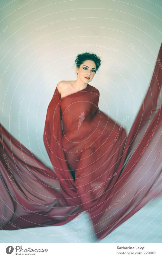 Matador Frau schön rot Leben Bewegung Stil träumen Mode Zufriedenheit Kraft Tanzen elegant einzigartig Stoff Kleid Leidenschaft