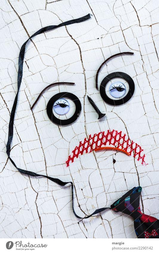 Emotionen...coole Gesichter: Arroganz Mensch Mann weiß rot schwarz Auge Erwachsene maskulin Mund