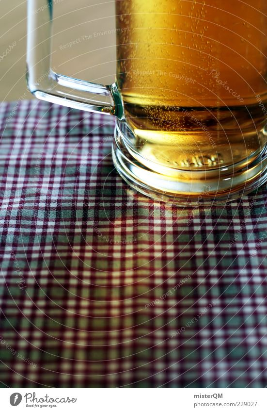 Challenge Accepted. Sommer Deutschland Feste & Feiern Glas ästhetisch trinken Bier lecker Alkohol Bayern kariert Oktoberfest Anschnitt Geschmackssinn Mittag