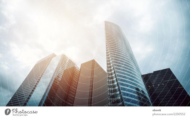 skyscrapers in a finance district Business Europa Hochhaus trist Skyline Paris Großstadt London Business District