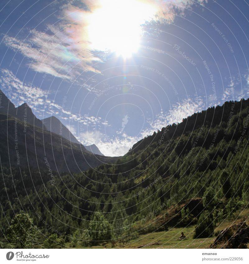 Pyrenäensonne Himmel Natur blau grün schön Baum Pflanze Sonne Ferien & Urlaub & Reisen Sommer Wald Wiese Freiheit Landschaft Berge u. Gebirge Ausflug