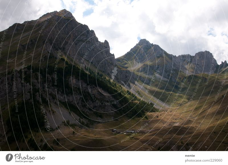 San Giacomo Natur grün ruhig Landschaft Berge u. Gebirge grau braun Perspektive authentisch Gipfel gigantisch Bergkette