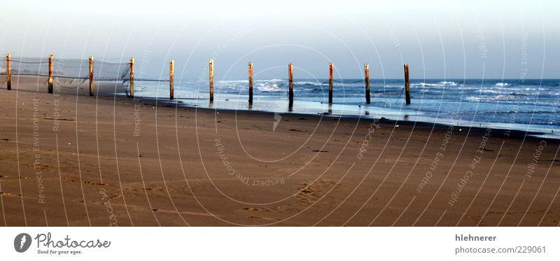 Natur schön Himmel Sonne Meer blau Sommer Strand Ferien & Urlaub & Reisen gelb Farbe Sand Landschaft Küste Wellen Hintergrundbild