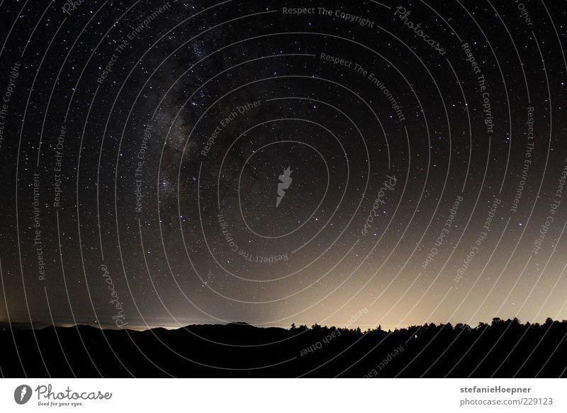 milky way Himmel Ferne Horizont glänzend Stern leuchten beobachten Unendlichkeit Weltall Textfreiraum Nachthimmel Wolkenloser Himmel Galaxie Nacht Sternenhimmel Milchstrasse