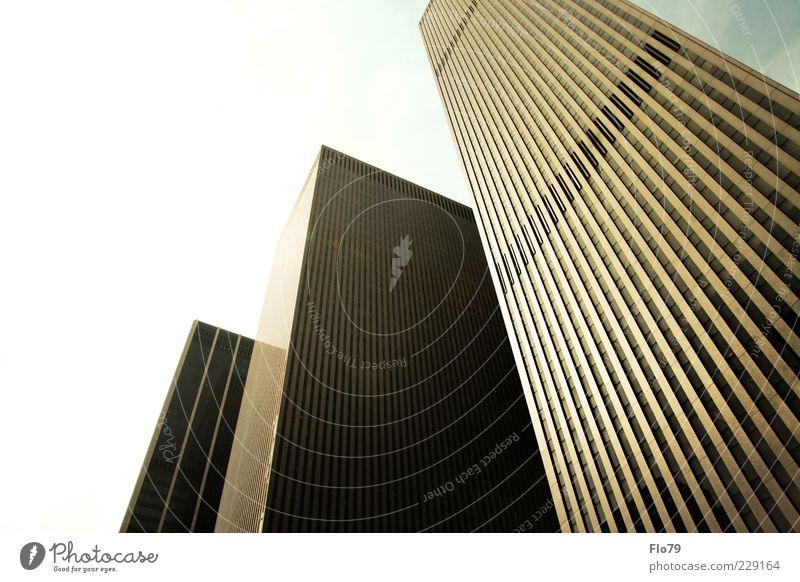 I love NY Stadt Haus kalt Architektur Gebäude Metall Glas Design Hochhaus Bauwerk Stahl Stadtzentrum Genauigkeit bevölkert