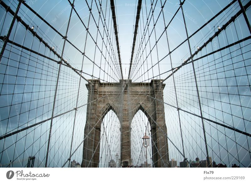 Ähm eric aaaah! Ferien & Urlaub & Reisen Sightseeing Städtereise Himmel Wolken Sommer New York City Amerika Brücke Bauwerk Gebäude Architektur Sehenswürdigkeit