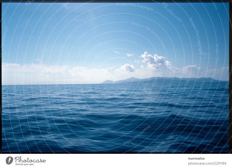 Sonntag Morgens auf See Natur Wasser Ferien & Urlaub & Reisen Sommer Meer Ferne Erholung Freiheit Landschaft Küste Wellen Horizont Wind Insel Schönes Wetter