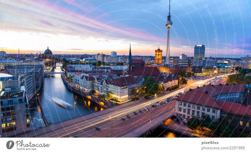 Berlin Ferien & Urlaub & Reisen Stadt Haus Ferne Architektur Gebäude Business Tourismus Deutschland Wasserfahrzeug Hochhaus Kirche Europa Erfolg Brücke