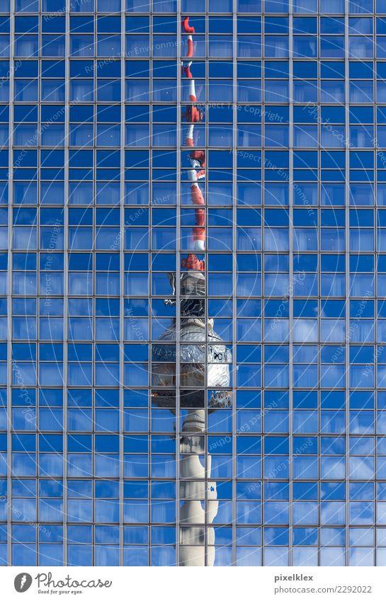 Reflexion Stadt Fenster Architektur Berlin Gebäude Business Tourismus Deutschland Fassade modern Hochhaus Glas Europa Erfolg hoch Turm