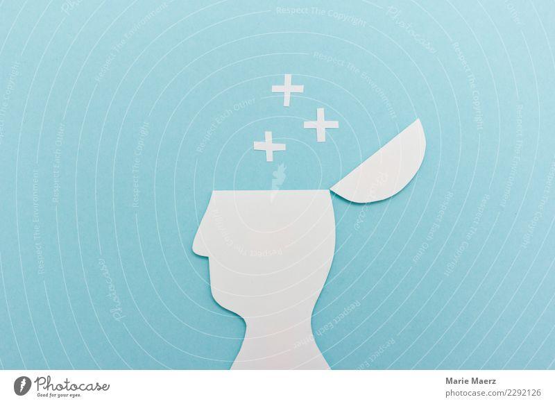 Neue Ideen & Gedanken. Offener Kopf als Silhouette mit Sternen. lernen 1 Mensch Denken entdecken Erholung Wachstum außergewöhnlich einzigartig modern Neugier