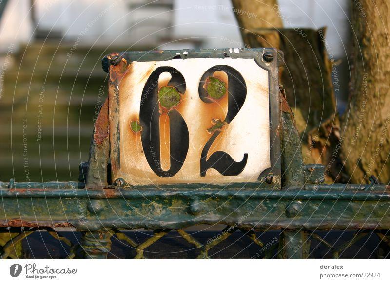 sechszwo Garten Schilder & Markierungen Ziffern & Zahlen Häusliches Leben Rost Zaun Emaille Hausnummer
