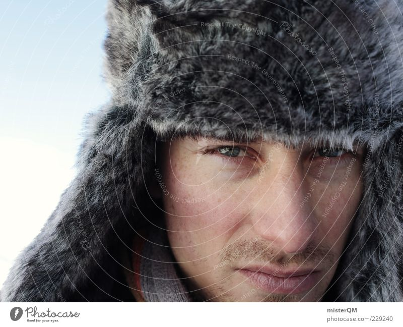E.³ Mensch Jugendliche Winter Erwachsene Gesicht Auge kalt maskulin Lifestyle Frost 18-30 Jahre Mütze Bart Schal Winterurlaub Wissenschaftler