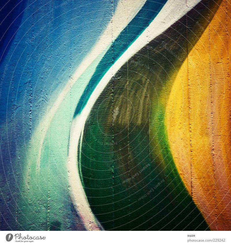 Inferno Design Kunst Gemälde streichen Fröhlichkeit Farbe Inspiration Kreativität Wand Hintergrundbild Pinselstrich Kunsthandwerk Farbfoto mehrfarbig