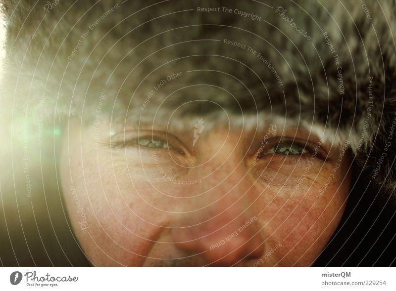 E.²*² Mensch Mann Winter Erwachsene Gesicht Auge Leben kalt Haut maskulin Nase Mütze frieren Bergsteiger Abenteurer Junger Mann