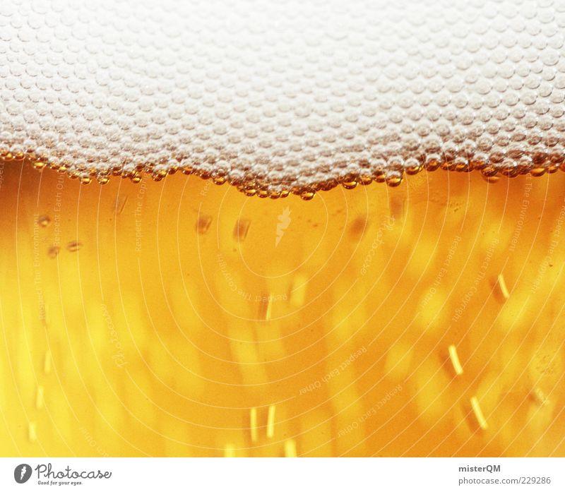 O' zapft isch. gold frisch Getränk Bier Flüssigkeit lecker blasen Rauschmittel Alkohol Erfrischung Schaum Makroaufnahme Chemie abstrakt Lebensmittel Kohlensäure