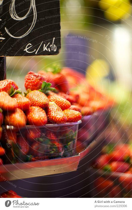 Susan's Strawberries Sommer rot Gesundheit Frucht Lebensmittel frisch Ernährung süß genießen lecker Bioprodukte Markt verkaufen Schalen & Schüsseln Vitamin Erdbeeren