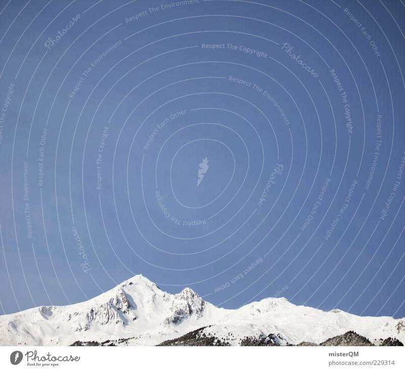 Bergland. Himmel Winter Landschaft Berge u. Gebirge hoch Klima Niveau Spitze Alpen Gipfel Österreich Schneelandschaft Schneebedeckte Gipfel Winterurlaub Bergkette Wintertag