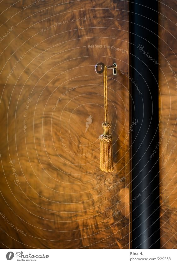 Troddel braun Lifestyle Dekoration & Verzierung geheimnisvoll historisch Möbel hängen Schlüssel antik Quaste Kommode Mahagoni